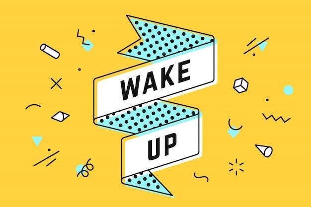 Svegliati. nastro vintage