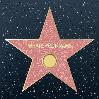 Walk of fame star.