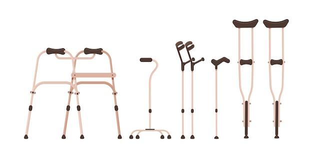Bastoni da passeggio. illustrazione in stile piatto.