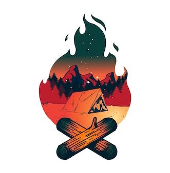 Arte della parete di legna da ardere