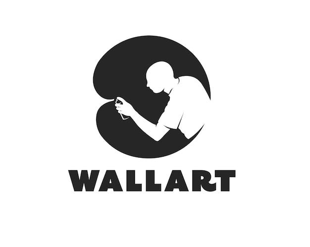 Modello di progettazione del logo del club di strada dell'arte dei graffiti del logo murale dell'arte della parete