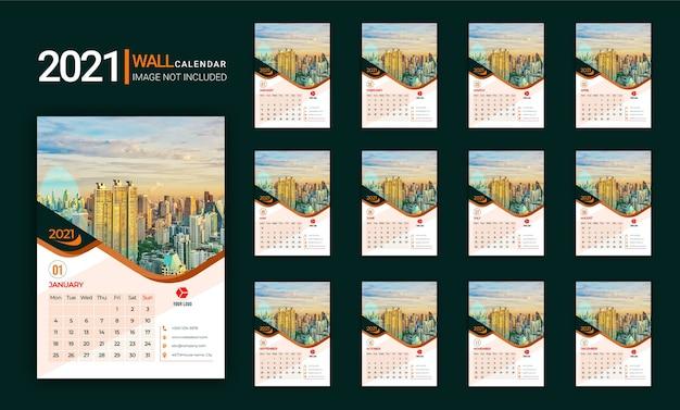 Calendario da parete 2021.