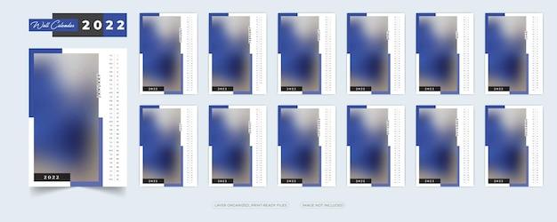 Calendario da parete 2022 modello di progettazione