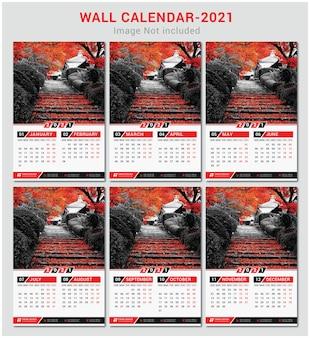 Modello di calendario da parete