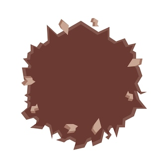 Muro incrinato nell'icona del cerchio