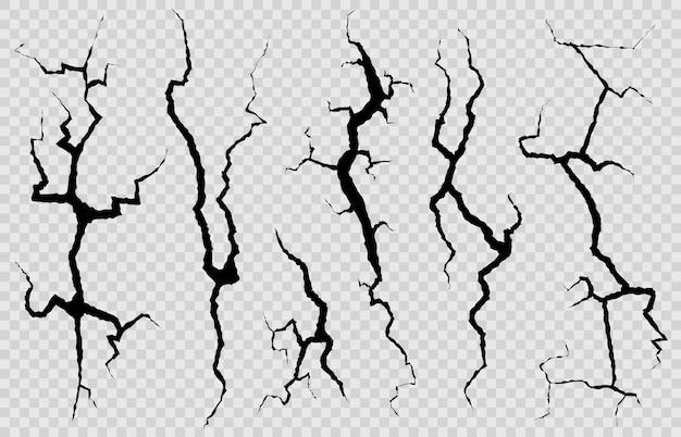 Illustrazione dell'illustrazione delle crepe nel muro