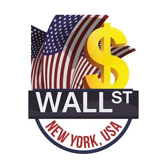 Business di scambio di wall street new york