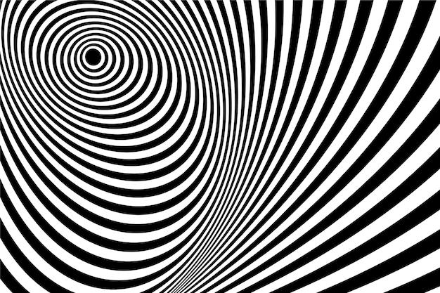Wallpaper psichedelico tema illusione ottica