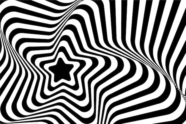 Illusione ottica psichedelica della carta da parati