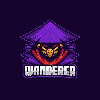 Modello di logo di wanderer e-sport