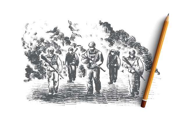 Illustrazione del concetto di guerra