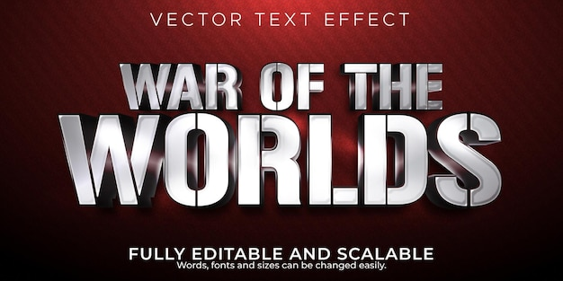 War of the worlds text effect modificabile warrior and knight text style