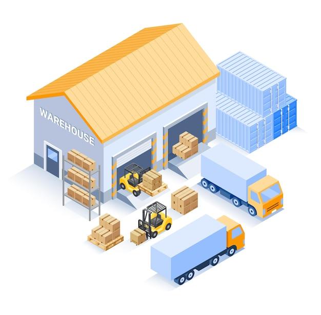Isometrica industriale del magazzino