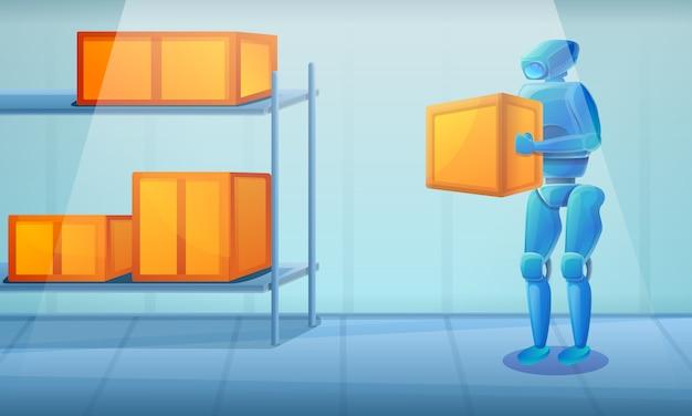 Robot di magazzino, illustrazione