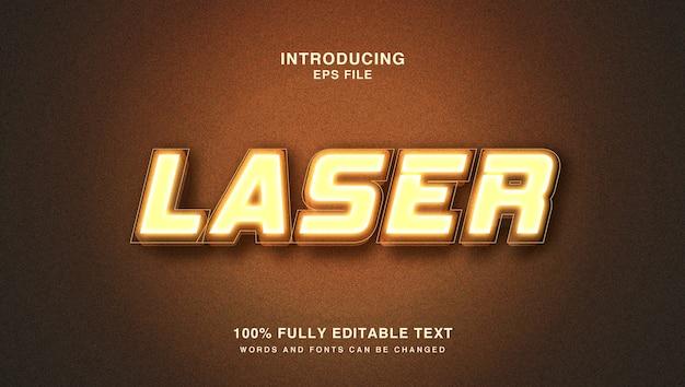 Effetto di stile di testo laser caldo