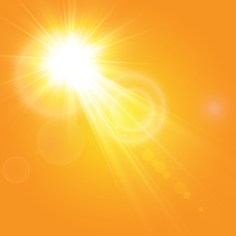 Sole caldo. leto.bliki raggi solari.