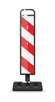Barriera di blocco stradale d'avvertimento isolata