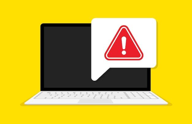 Avviso di dati spam, illustrazione di connessione non sicura
