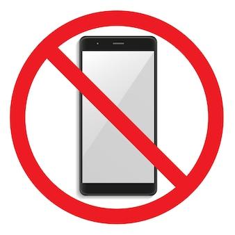 Avvertenza illustrazione del segnale di stop del telefono
