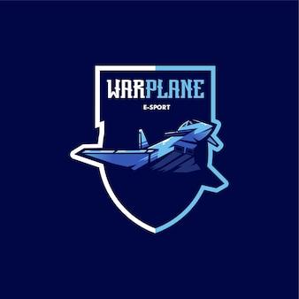 Logo esport di aereo da guerra
