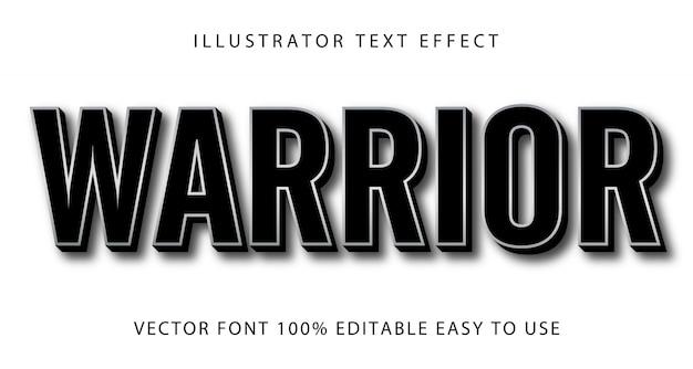 Effetto di testo modificabile warrior