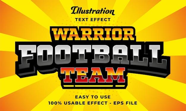 Effetto testo squadra di calcio guerriera