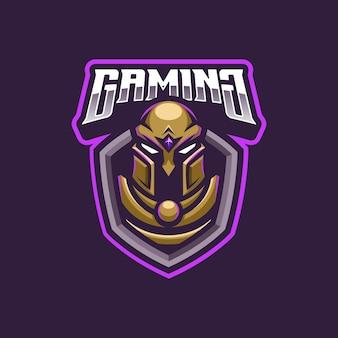 Mascotte del logo del guerriero