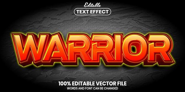Testo del guerriero, effetto di testo modificabile in stile carattere