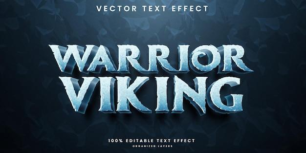 Effetto di testo modificabile guerriero vichingo