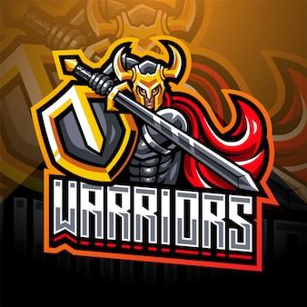 Warriors esport logo design mascotte
