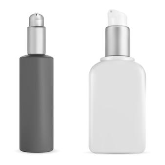 Lavare il mockup del prodotto crema isolato su priorità bassa bianca