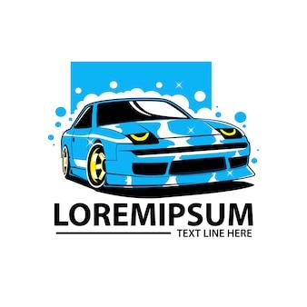 Logo dell'automobile di lavaggio
