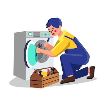 Riparazione dell'idraulico di servizio della lavatrice
