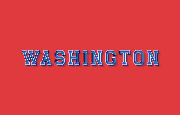 Testo di washington con effetto isometrico 3d