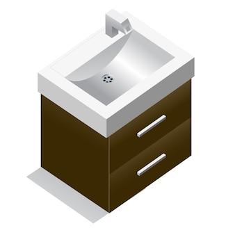 Illustrazione wastafel. asset di elementi di gioco
