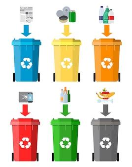 Concetto di gestione dei rifiuti.
