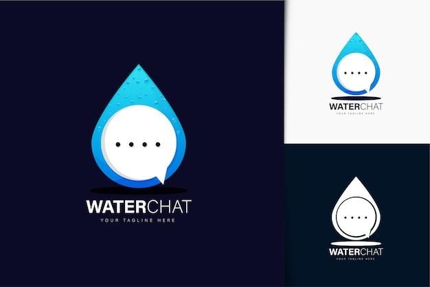 Design del logo acqua e chat