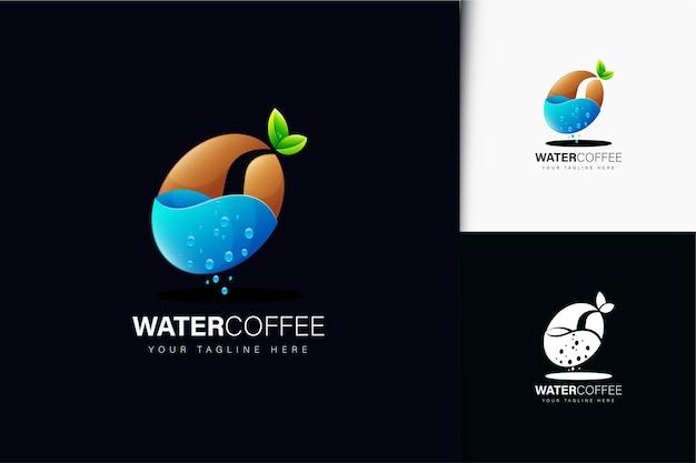 Design del logo del caffè all'acqua con sfumatura