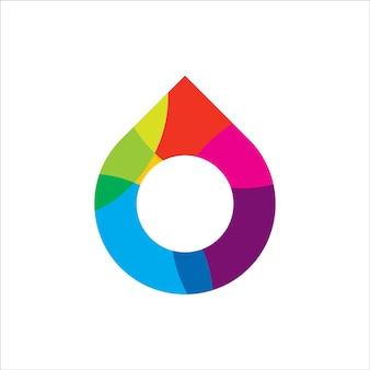 Design del logo con goccia di colore dell'acqua