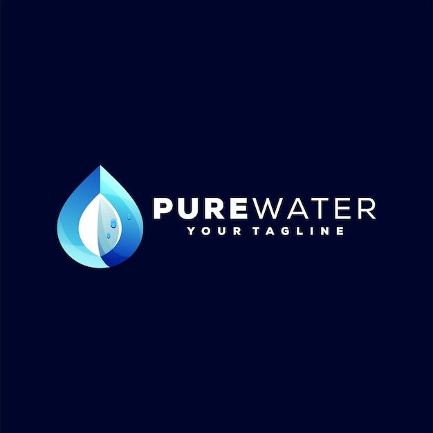 Design del logo sfumato colore dell'acqua