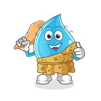 Fumetto antico di goccia d'acqua