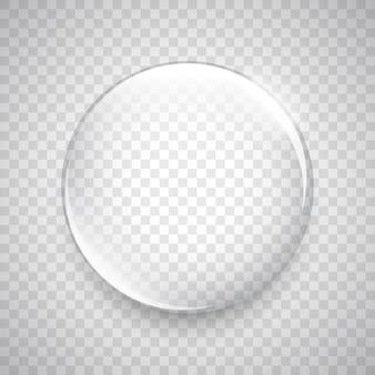 Goccia d'acqua. sfera di vetro. bolla.