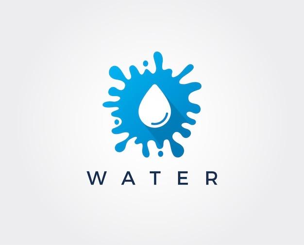Design del logo con goccia d'acqua