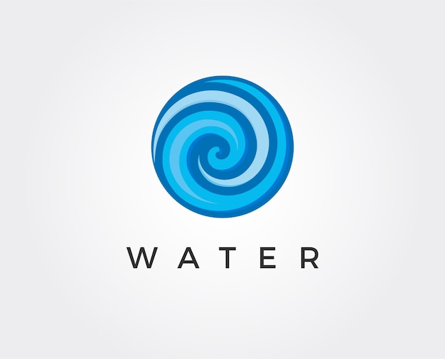 Disegno dell'illustrazione del modello di logo della goccia d'acqua