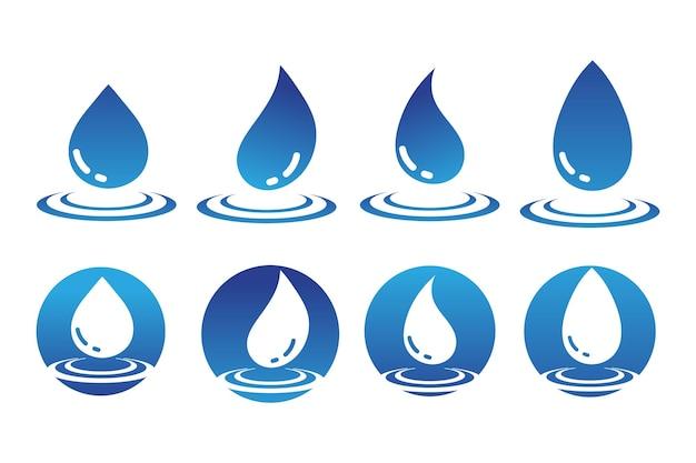 Disegno dell'illustrazione di vettore del modello di logo della goccia d'acqua