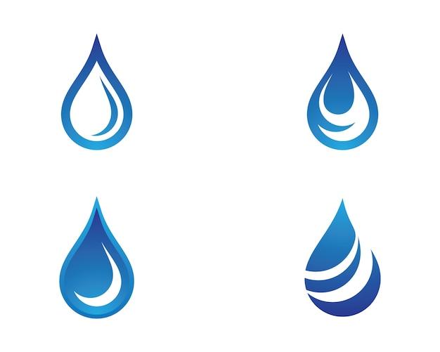 Illustrazione di simbolo di goccia d'acqua