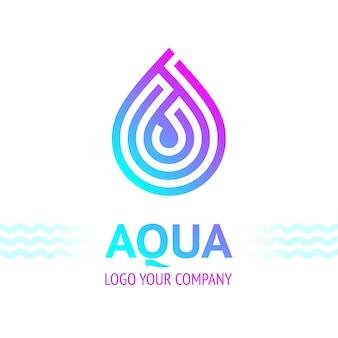 Simbolo della goccia d'acqua, icona del modello di logo per il tuo design, illustrazione vettoriale