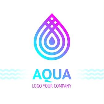 Simbolo di goccia d'acqua per il logo