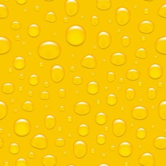 Gocce d'acqua su vetro. come una birra sfondo senza soluzione di continuità
