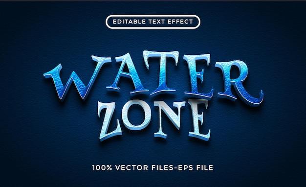 Vettori premium effetto testo modificabile con acqua